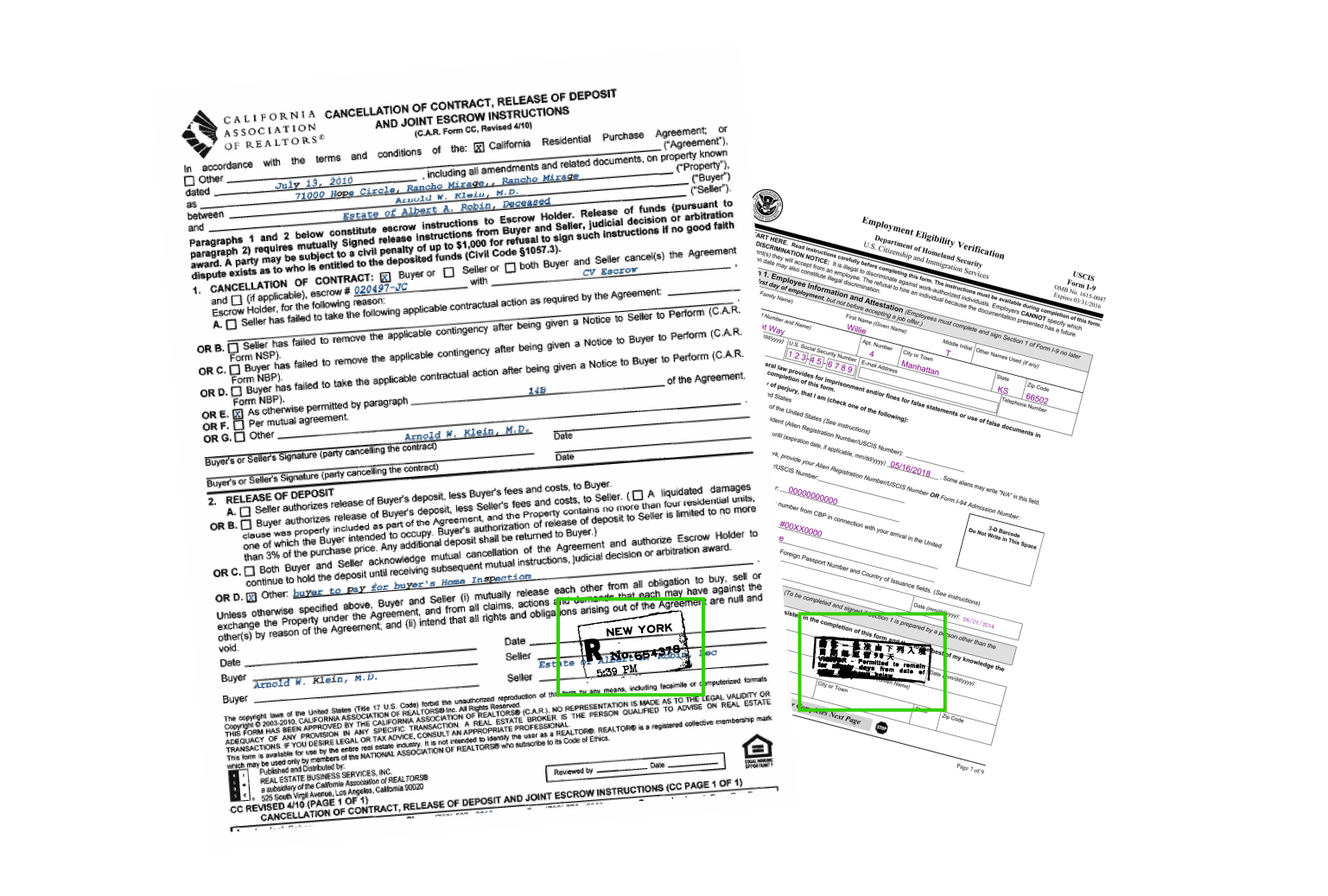 IDP extracts data from documents with logos, stamps, seals, and more.