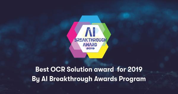 Infrrd Wins The AI Breakthrough Award For 'Best OCR Solution'