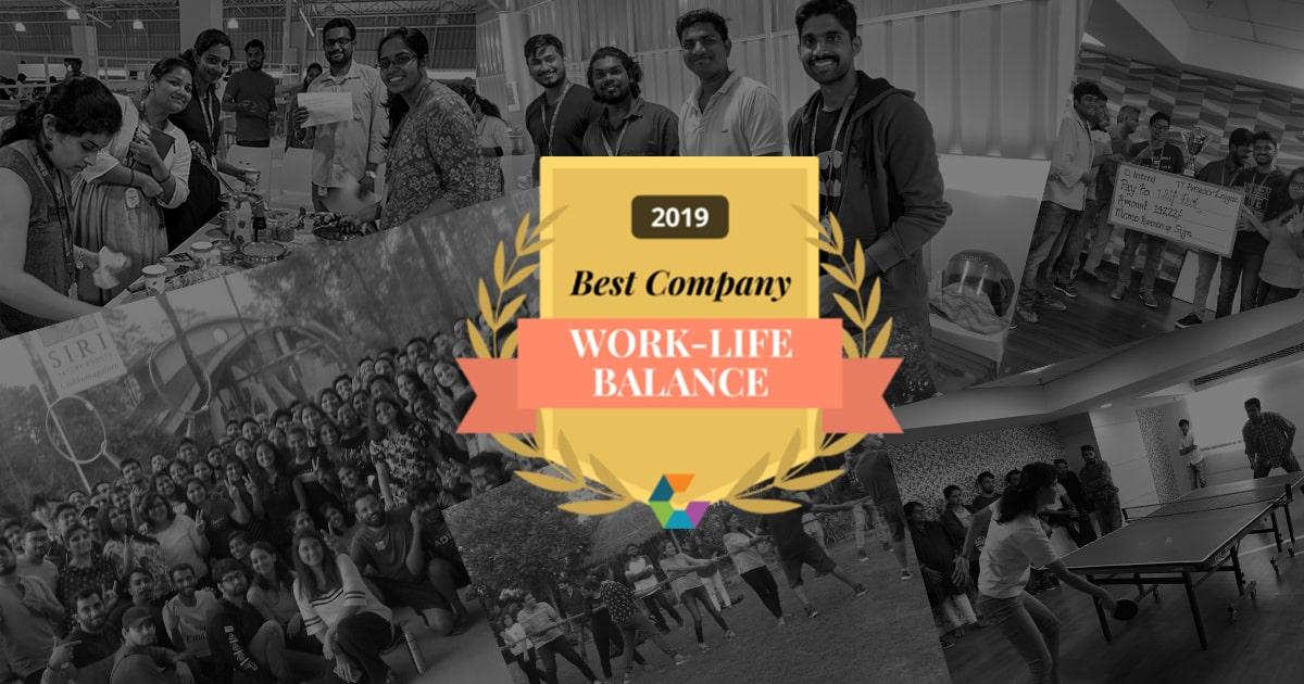 Infrrd Earned The 'Best Work-Life Balance Award' 2019