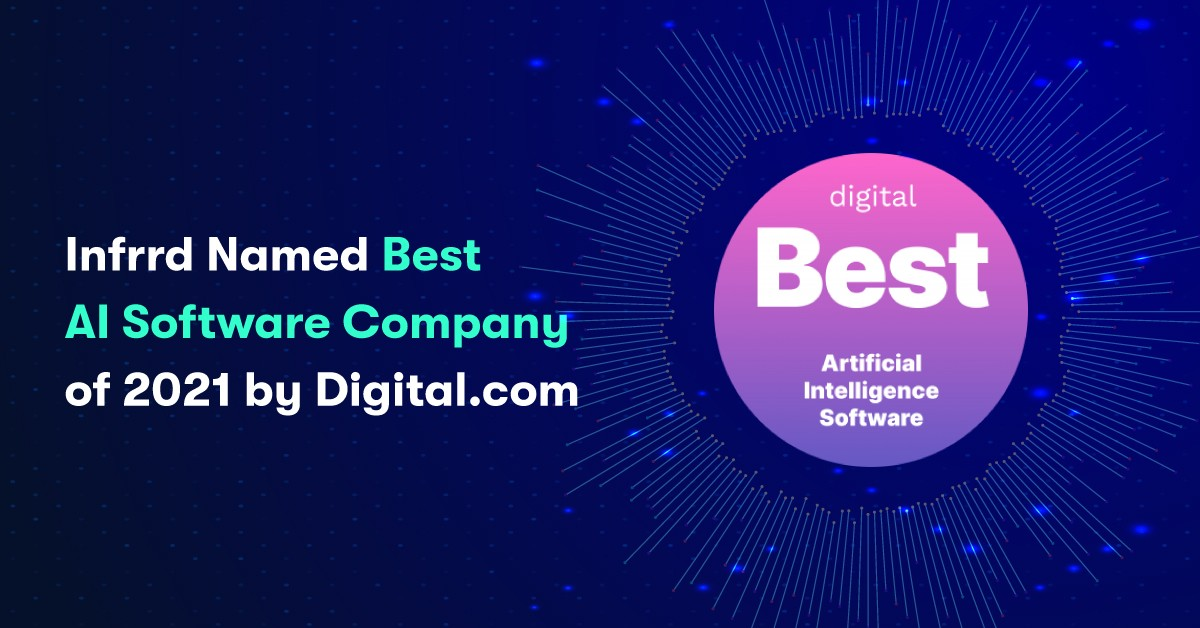Infrrd Named Best AI Software Company of 2021 by Digital.com